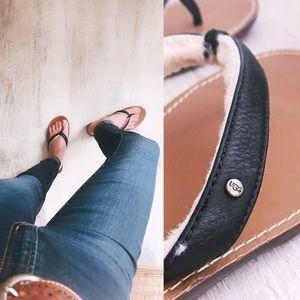 UGG wedge flip flops